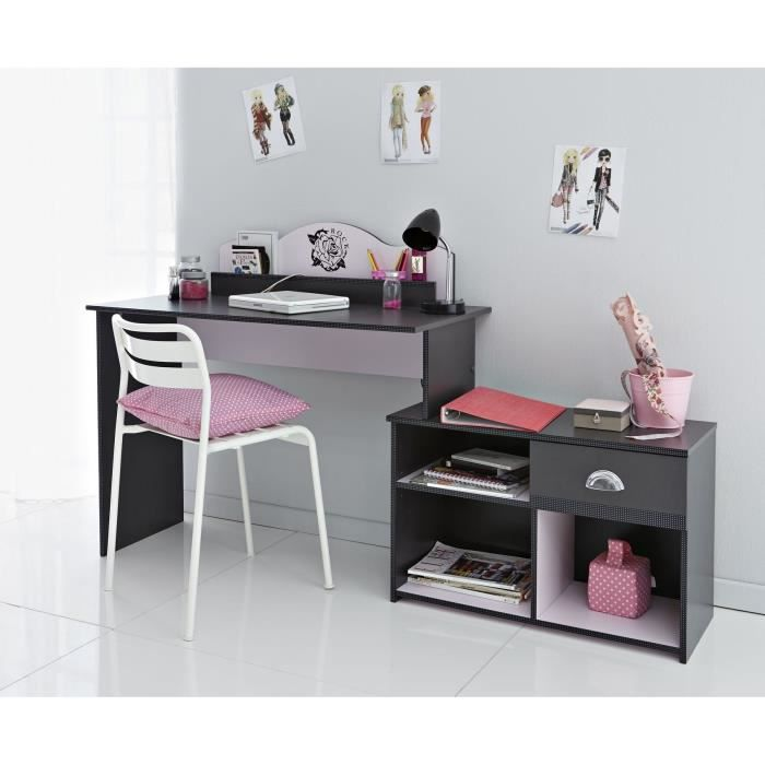 bureau 3 positions rock gris ombre achat vente bureau bureau 3 positions tatoo gr. Black Bedroom Furniture Sets. Home Design Ideas