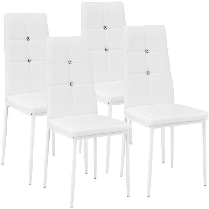 nice chaise de cuisine blanche 12 4 chaises de salle. Black Bedroom Furniture Sets. Home Design Ideas
