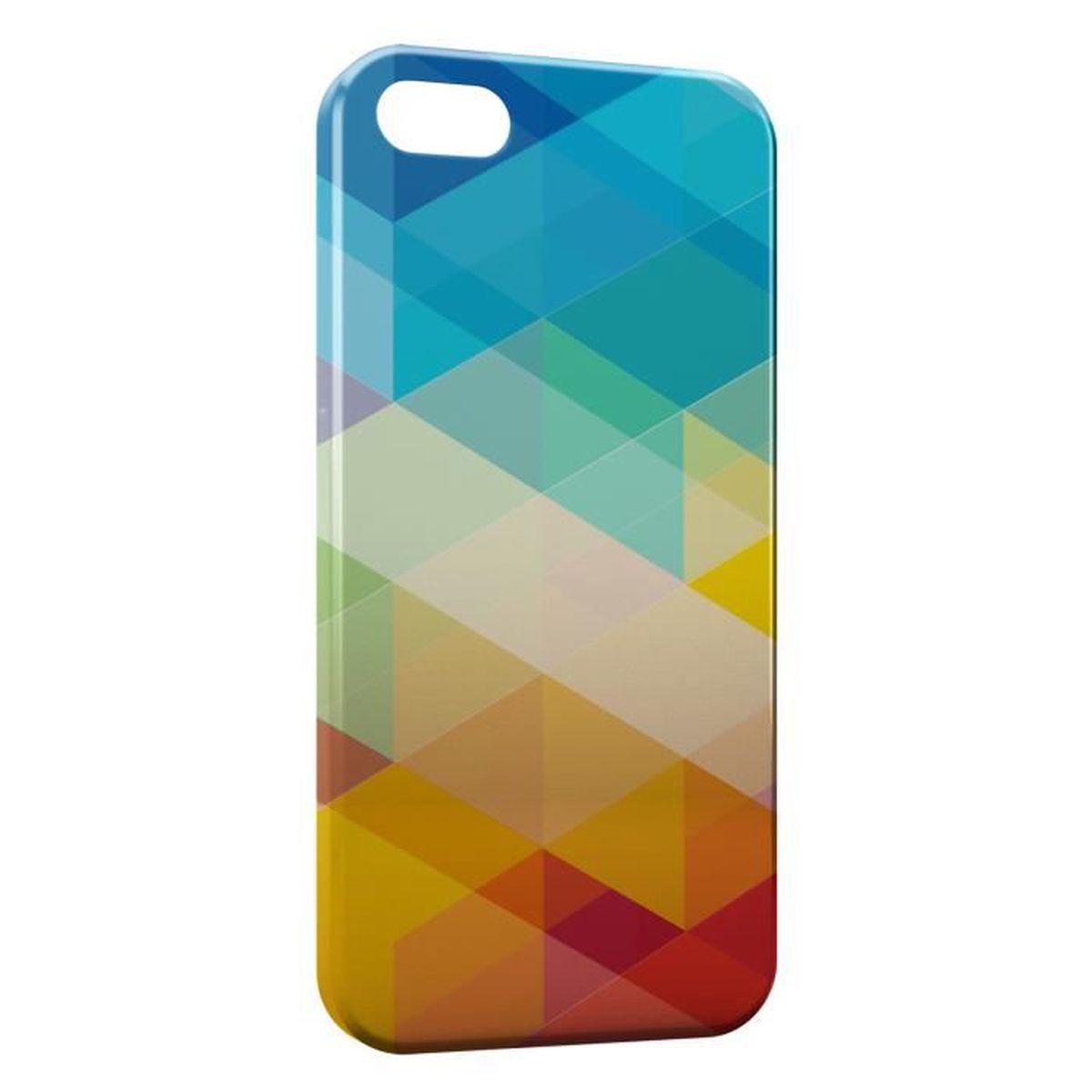coque iphone 7 multicolor 3d design