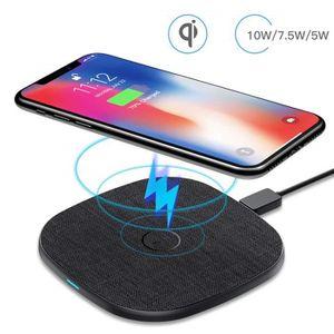 CHARGEUR TÉLÉPHONE 10W Chargeur à Induction Sans Fil Rapide Qi Univer