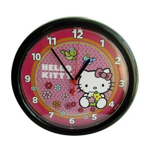 montre pendule hello kitty. Black Bedroom Furniture Sets. Home Design Ideas