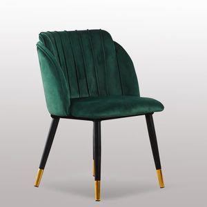 CHAISE Chaise de Salle à Manger en Velours Vert Émeraude,