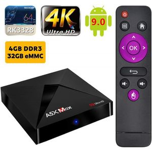 BOX MULTIMEDIA Android 9.0 TV Box A5X Max 4K Boîtier TV [4GB+32GB