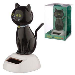 FIGURINE - PERSONNAGE Figurine Mobile Solaire Chat Noir - Décoration Mai