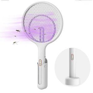 Efficace Contre Les Mouches Insectes Hospaop Raquette Anti Moustique Protection de Maille 3 Couches 4000 Volts USB RechargeableTapette/à Mouche Electrique