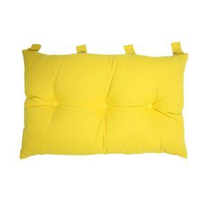COUSSIN Tête de lit coussin 100% coton uni - 50x70 cm - Ja