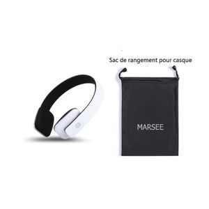 CASQUE - ÉCOUTEURS Casque Bluetooth, Bluetooth 4.1 Marsee High Fideli