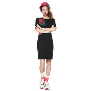 ROBE Desigual Robe Femme Helga Noir et Motifs 18WWVK66
