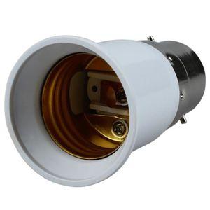 AMPOULE TABLEAU BORD Adaptateur Lumiere Ampoule E27 a B22 blanc
