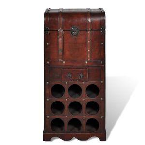 MEUBLE RANGE BOUTEILLE étagère de rangement casier à vin en bois pour 9 b