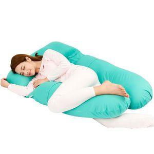 COUSSIN ALLAITEMENT coussin de maternité - Oreiller de corps - Bleu Ma