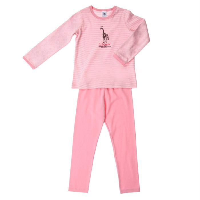 petit bateau pyjama ensemble 2 pi ces fille rose achat. Black Bedroom Furniture Sets. Home Design Ideas