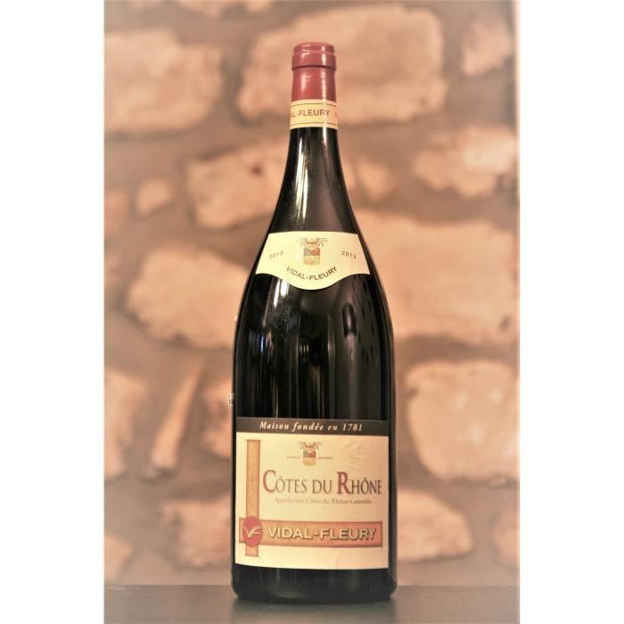 Vin rouge, Cote du Rhone mise Vidal Fleuri, magnum 2013 Rouge