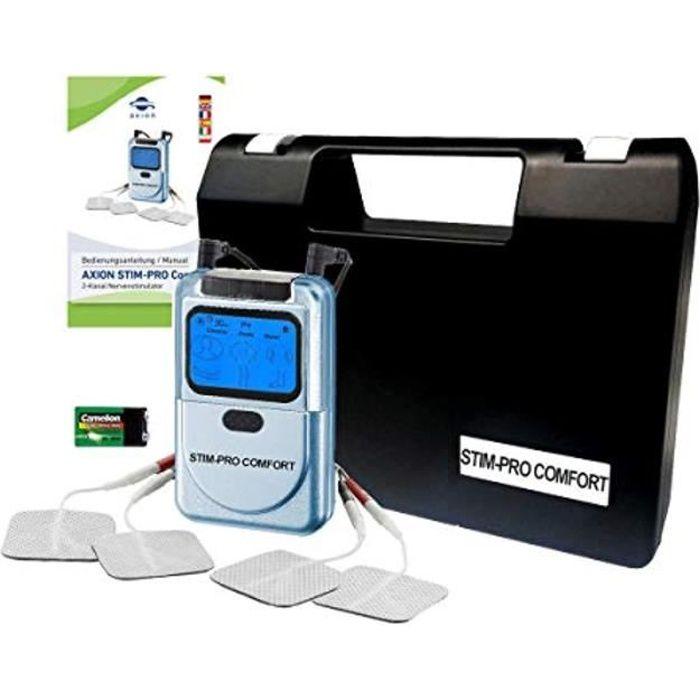 axion - Electrostimulateur Musculaire TENS - soulagement des douleurs par electrostimulation - STIM-Pro Comfort