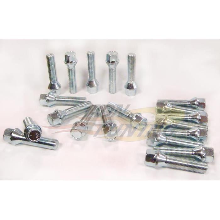 Pack de 20 Vis 12x125- L2 40mm - Cle 17 - Portee Conique - PGS