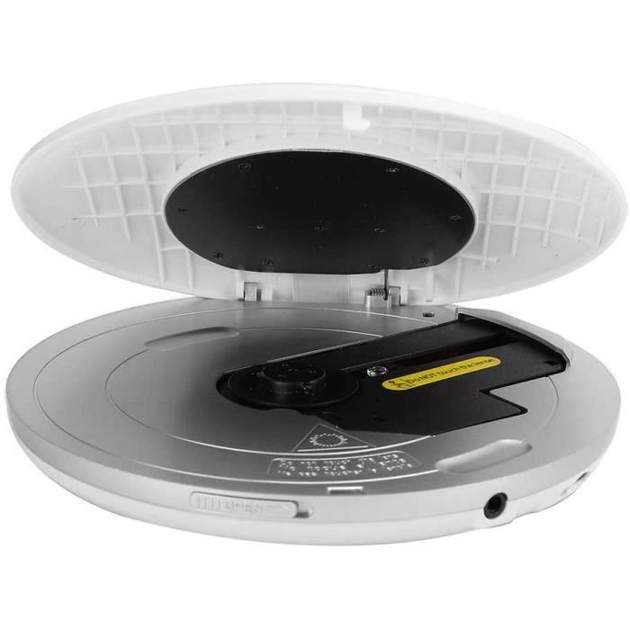 Lecteur CD Rechargeable, Lecteur CD Portable Boombox Audio Bluetooth Filaire-sans Fil, pour Voiture pour Livres Audio pour Enfan,163