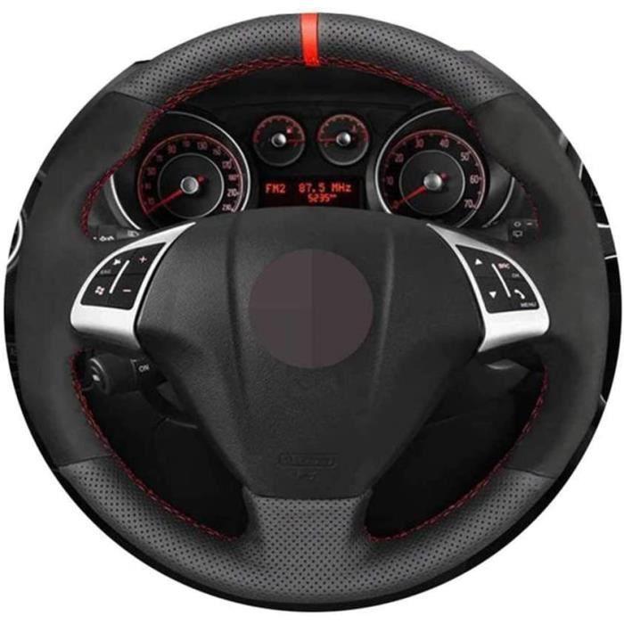 Couvre-Volant de Voiture Noir Point à la Main, adapté pour Fiat Punto Bravo Linea 2007-2019 Qubo Doblo 2008-2015 Grande Punto 1128