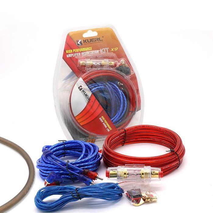 kit de fils d'installation de haut-parleur câble d'alimentation 10GA porte-fusible 60 ampères kits de câblage amplificateur de câbl