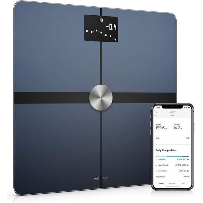 Pèse-personne Withings Body+ - Balance connectée WiFi & Bluetooth avec analyse de la composition corporelle (poids, mass 586598