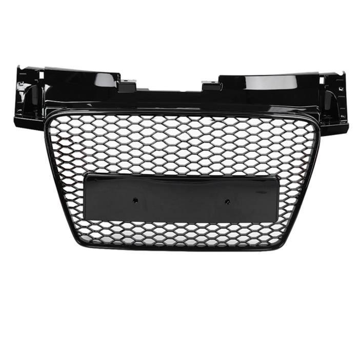 Garosa pour gril de style TTRS Pour TTRS Style avant Sport Hex Mesh Honeycomb Hood Grill noir pour Audi TT / TTS 8J 06-14