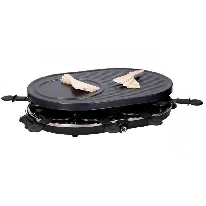 Appareil à raclette Grill 8 personnes 1200W DELUXE 2en1