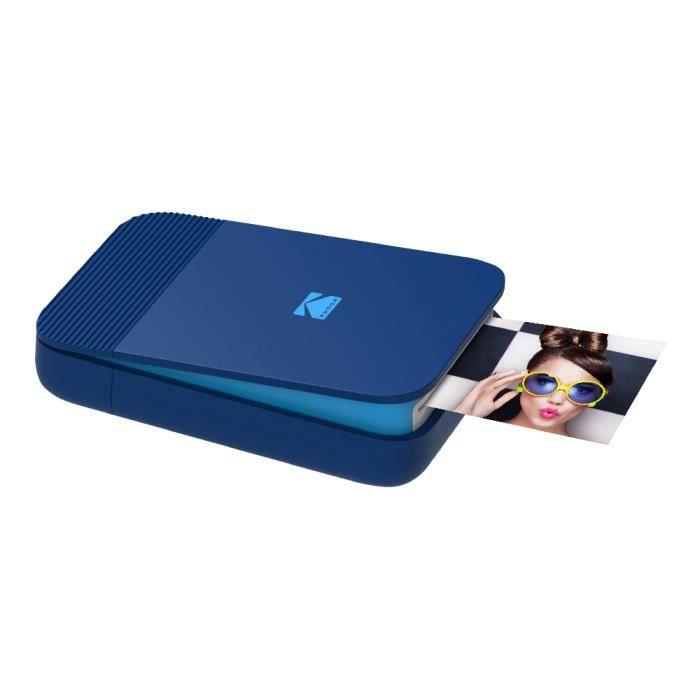 KODAK SMILE Printer - Imprimante Photo Bluetooth Compacte - Bleu