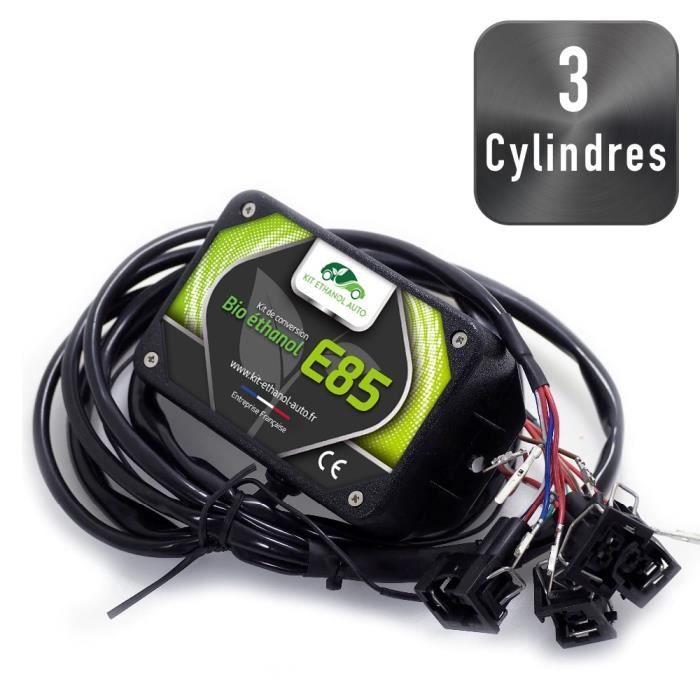 [ Kit 3 Cylindres - Connecteurs Delphi ] Kit Flex Fuel E85 + Diagnostic ELM327 USB