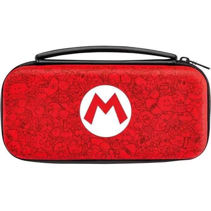 PDP Sacoche Deluxe M Mario Pour Nintendo Switch - Rouge et Blanche - Licence Officielle