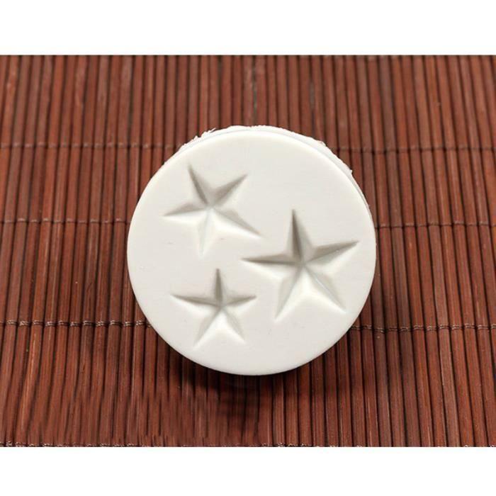 1pc moules en Silicone outils de décoration de gâteau 3 ustensiles de cuisson en forme d'étoile pour Fondant GATEAU PATISSIER