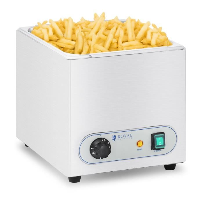Chauffe-frites Royal Catering RCWG-1500-W (350W, Intervalle de température 30-90 °C, inox)