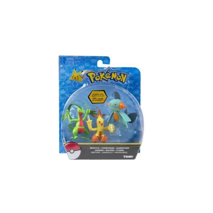 Pack de 3 Figurines de Combat Pokémon - Galifeu Flobio Massko - Tomy - T18881
