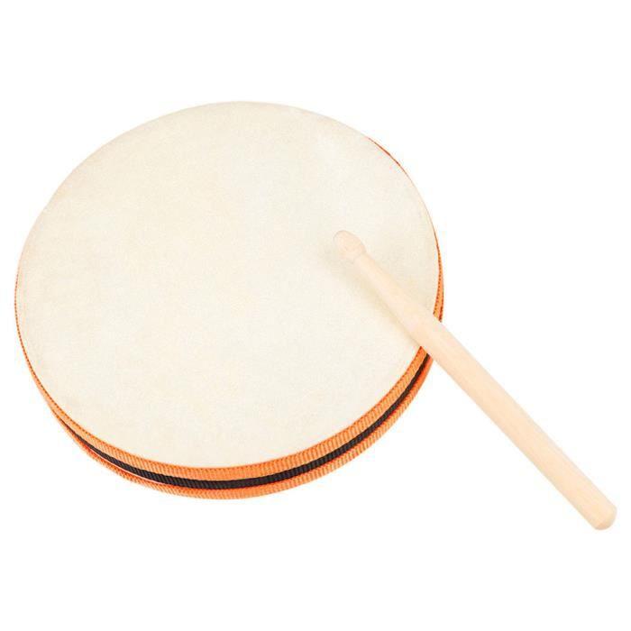 Tambour de percussion tambour de tambour pour enfants percussions bois cadre de tambour tambour drum enfants musique je,Comme montré