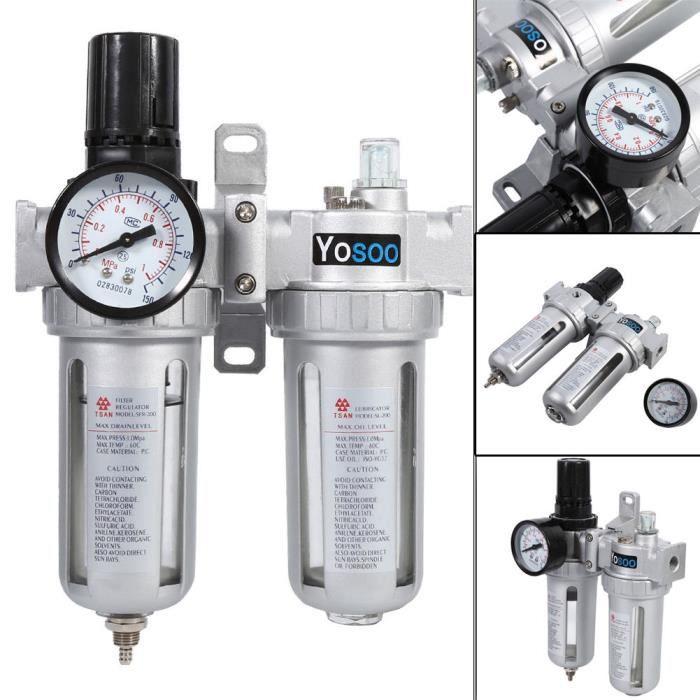 Séparateur d/'eau à air comprimé Réducteur de pression pour Afr-2000