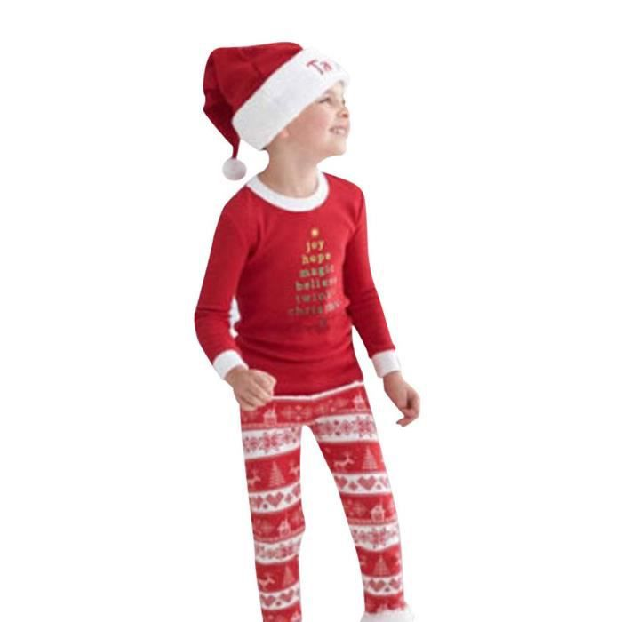 Pyjamas Sleepwear Set Baby Nightwear Kids Noël Christmas Xmas Ha5160 Pajamas xn0aqn4C