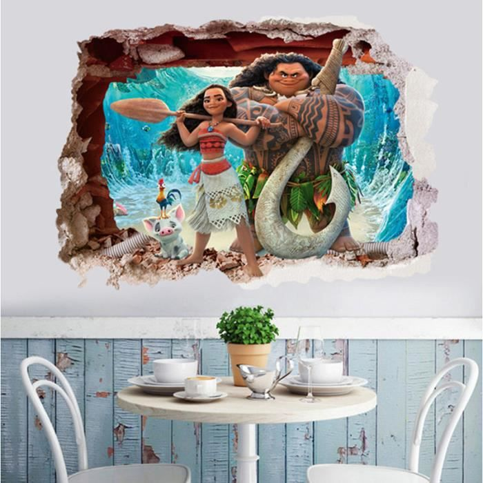 Stickers vaiana achat vente stickers vaiana pas cher for Decoration murale fait main