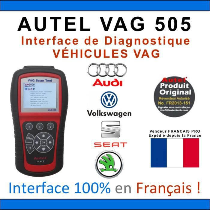 autel vag 505 voiture scanner valise diagnostique obd obd2 autocom delphi vag com vcds. Black Bedroom Furniture Sets. Home Design Ideas