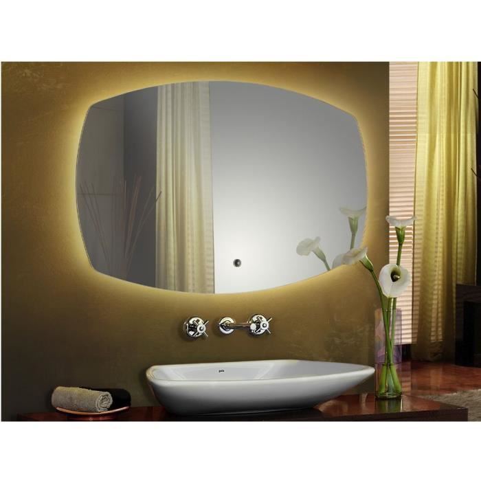 miroir led avec un interrupteur tactile achat vente. Black Bedroom Furniture Sets. Home Design Ideas