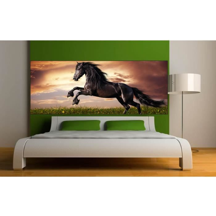 Stickers T Te De Lit D Co Chambre Cheval Dimensions 120x46cm Achat Vente Stickers Cdiscount