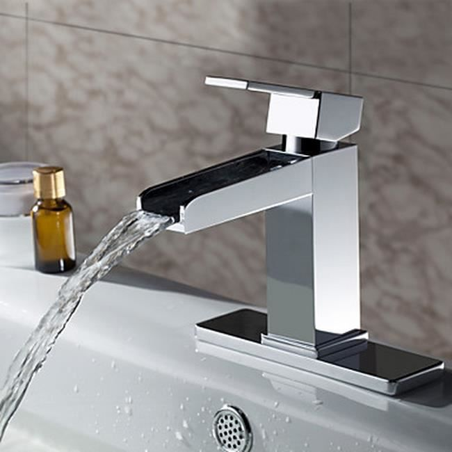 lookshop robinet salle de bain d 39 vier cascade design chrome achat vente robinetterie sdb. Black Bedroom Furniture Sets. Home Design Ideas