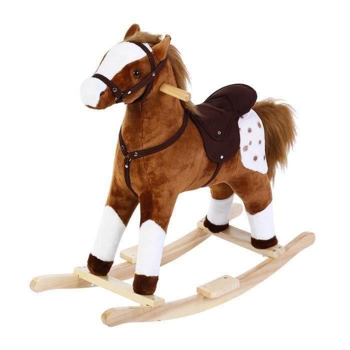 Animal à bascule cheval à bascule pour enfant et bébé avec sonores Coccinelle