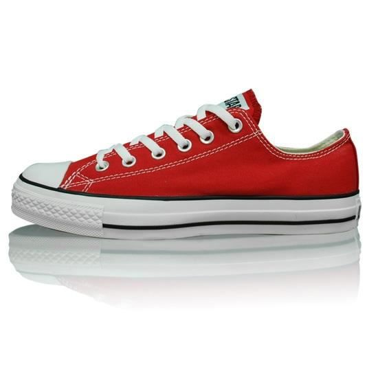 basket converse all star basse rouge