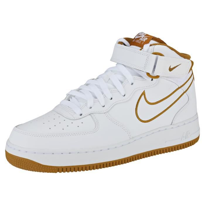 premium selection df997 7e5b4 BASKET Nike Air Force 1 Mid 07 Homme Baskets Blanc Bronze