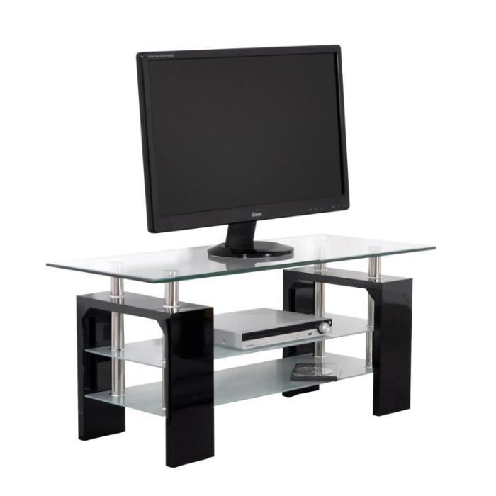 meuble tv transparent achat vente meuble tv transparent pas cher les soldes sur cdiscount. Black Bedroom Furniture Sets. Home Design Ideas