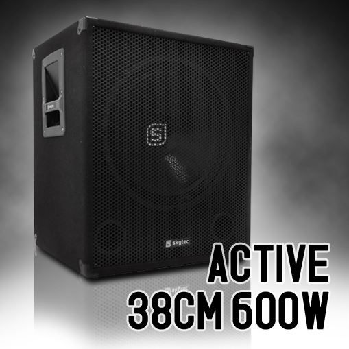 caisson de basses actif dj subwoofer 15 600w enceinte. Black Bedroom Furniture Sets. Home Design Ideas