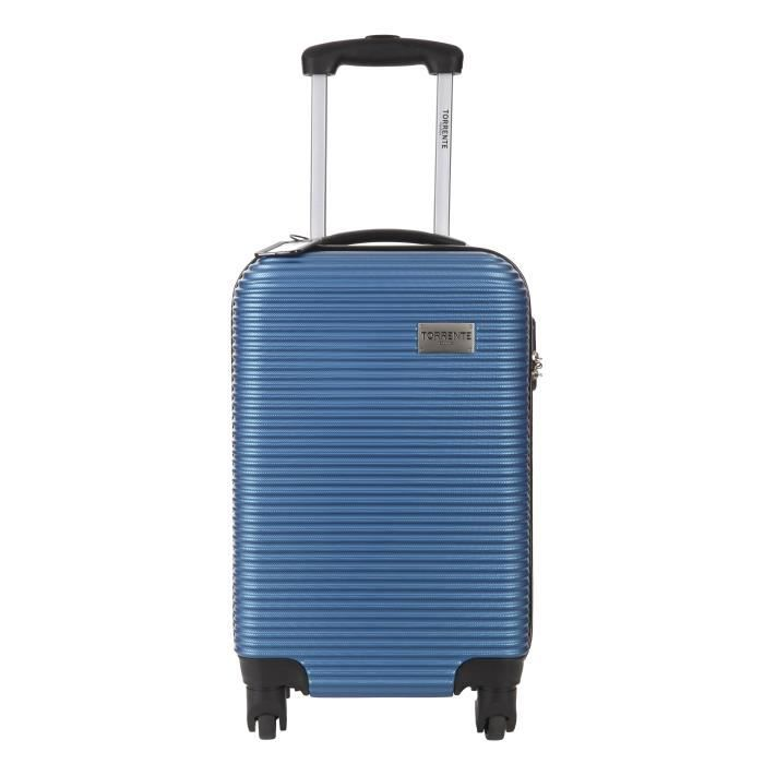 torrente valise cabine low cost rigide polycarbonate 4 roues 50 cm argos bleu bleu achat. Black Bedroom Furniture Sets. Home Design Ideas