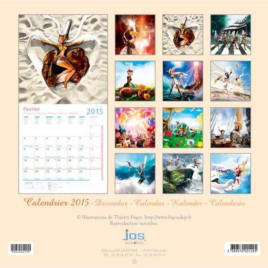Calendrier Bigoud'Up (30x30) 2015   Achat / Vente calendrier