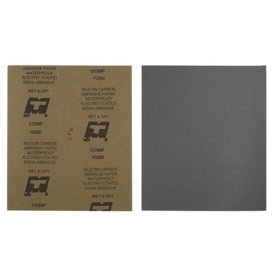 42X Wet /& Dry papier sablé abrasif feuilles de sable rectangle ponceuse