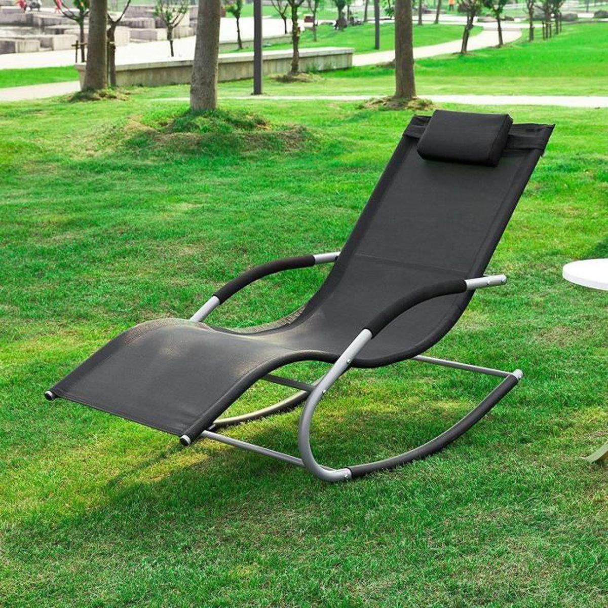 Transat Fauteuil a bascule bain de soleil jardin - Achat ...