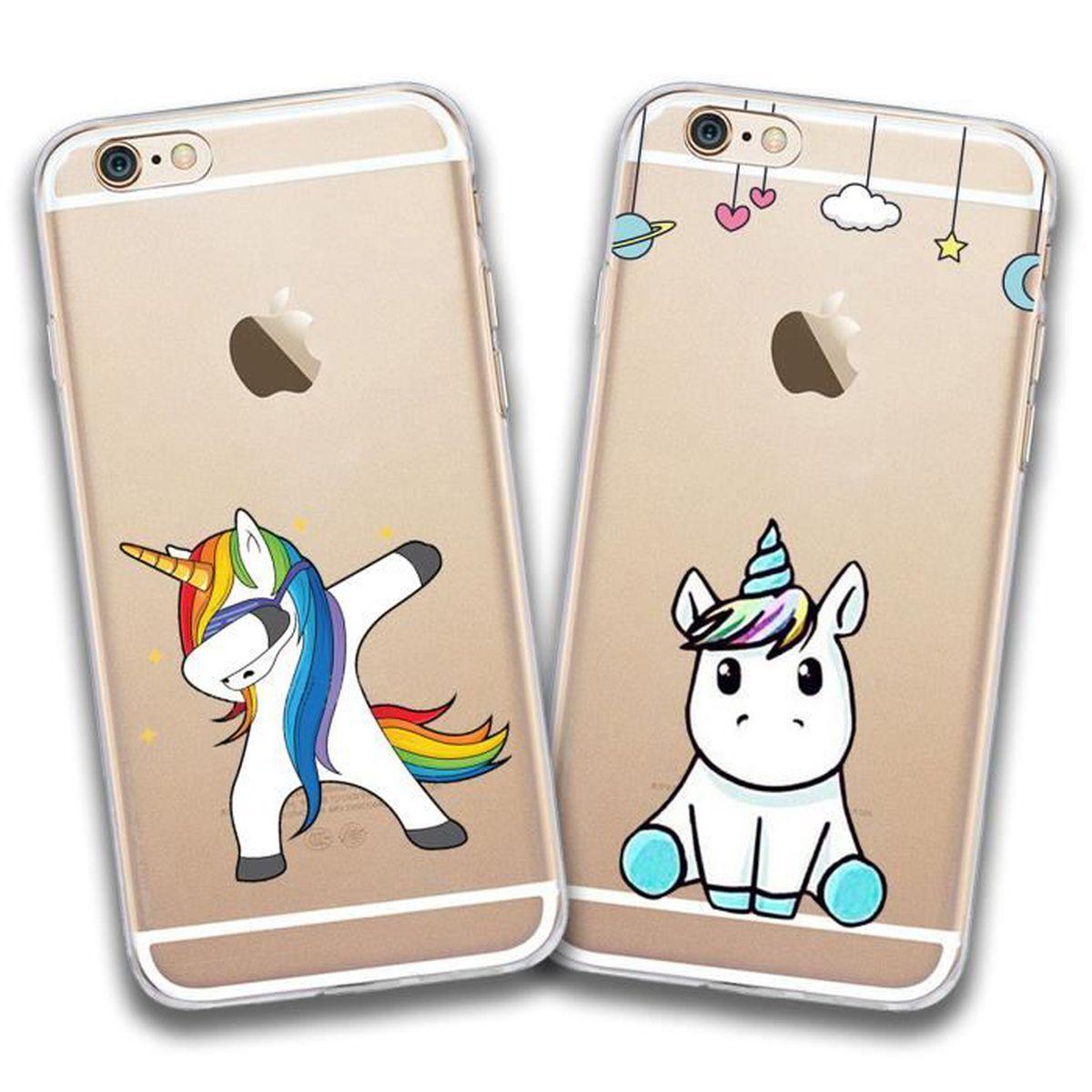 2 X Coque iPhone 6/6s, Licorne Licorne Doux Souple Transparent ...