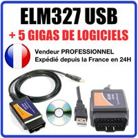 interface diagnostique elm 327 usb obd2 logiciels diagnostic obd obdii elm327 achat vente. Black Bedroom Furniture Sets. Home Design Ideas